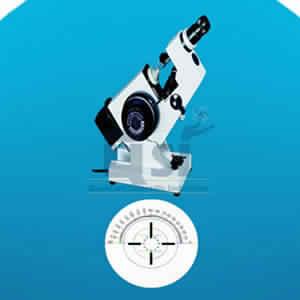 Lensmeter corona cross target